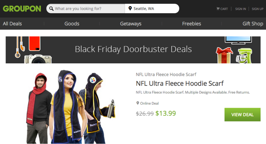 Doorbusters from Groupon