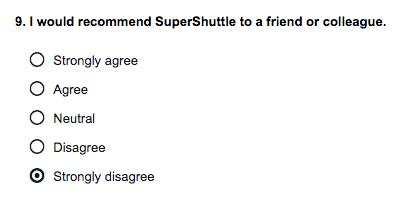 SuperShuttle satisfaction
