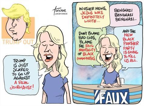 Ron Tornoe Megyn Kelly cartoon