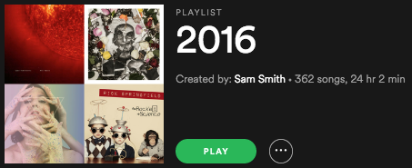 Doc's 2016 Playlist