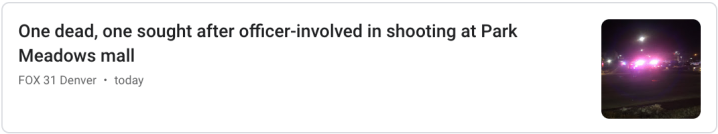 Officer involved shooting euphemism